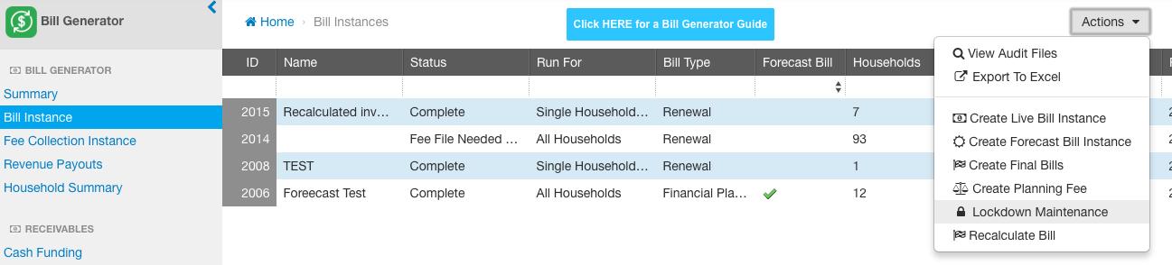 Bill Generator