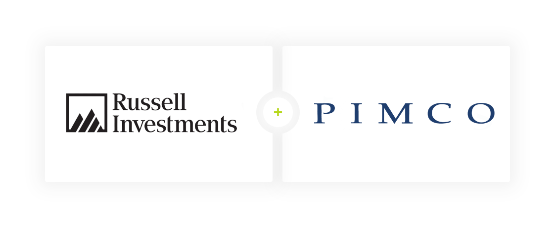 Russel Investments and Pimco logos